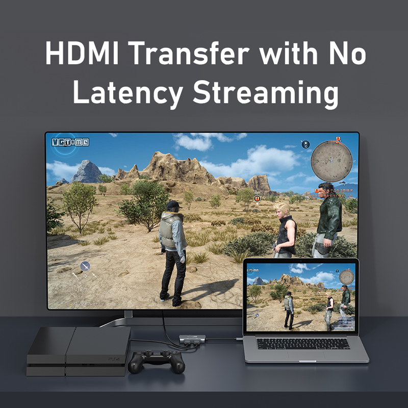 CABLETIME 4K HDMI Capture Card USB 3.0  to USB HD 1080P HDMI Loop Port for Video Live Steaming Camera Recording N430 4