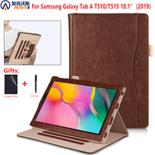 Walkers Magnetic Case for Samsung Galaxy Tab A 10.1 2019 T510 T515 PU Leather Tablet Cover for Samsung Tab A 10.1 SM T510 /T515