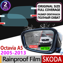 For Skoda Octavia 2 A5 2005-2013 II MK2 1Z Full Cover Anti Fog Film Rearview Mirror Rainproof Anti-Fog Films Clean Accessories цена и фото