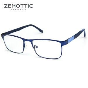 Image 2 - ZENOTTIC Alloy Progressive Prescription Glasses For Men Women Square Myopia Anti blue light Photochromic Optical Eyewear Frame