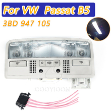 Cooyidom cinza cor cúpula luz interior lâmpada de leitura para vw volkswagen passat b5 2006 2011 3bd 947 105 2en ar luz peça de automóvel