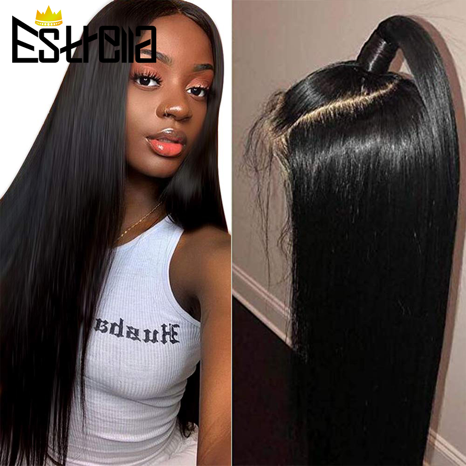 Straight Lace Front Wigs 150% Density Malaysia Remy Lace Front Human Hair Wigs with Baby Hair Pre Plucked Natural Hairline Wigs