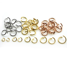 100pcs Rose Gold Stainless Steel Open Jump Rings 5 6 7 8 9 10mm Split Rings Connectors Chains for DIY Jewelry Findings Making
