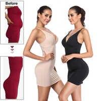 Full Slips for Women Under Dresses Shaping Slimming full body modeler belt waist trainer butt lifter Control push up Shapewear
