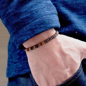 Минималистичный 4 мм браслет из натурального дерева для мужчин, нитка, бисер, неправильный венге, дерево, бразильский подарок для Него, аксессуары|Плетеные браслеты|   | АлиЭкспресс