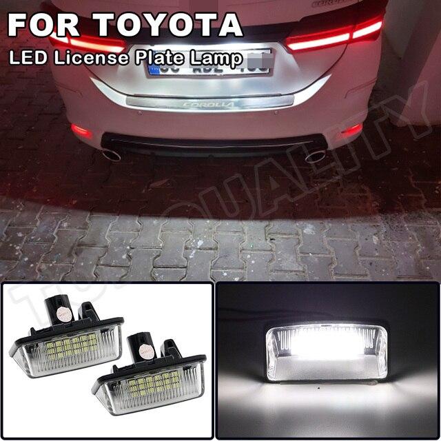 Für Toyota Crown 2003 2009 Caldina Corolla Sprinter Majesta Starlet Alphard Wünschen Estima LED Lizenz Nummer Platte Licht Keine fehler