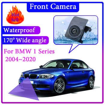For BMW 1 Series E81 E82 E87 E88 F20 F21 F52 F40 2004~2020 Car LOGO Front Camera Wide Angle Degree Embedded Blind Spot Area CAM