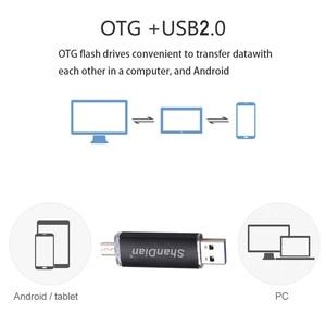 Image 4 - SHANDIAN Fashion flash drive OTG high Speed drive 64GB 32GB 16GB 8G 4GB external storage double Application Micro USB Stick gift