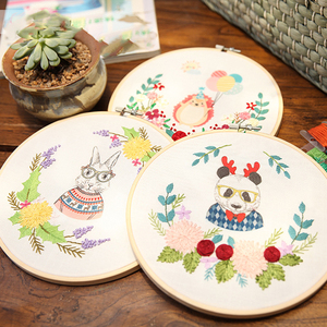 Image 5 - 8 Size 8 26CM Bamboo Frame Embroidery Hoop Ring DIY Needlecraft Cross Stitch Machine Round Loop Hand Household Sewing Tools