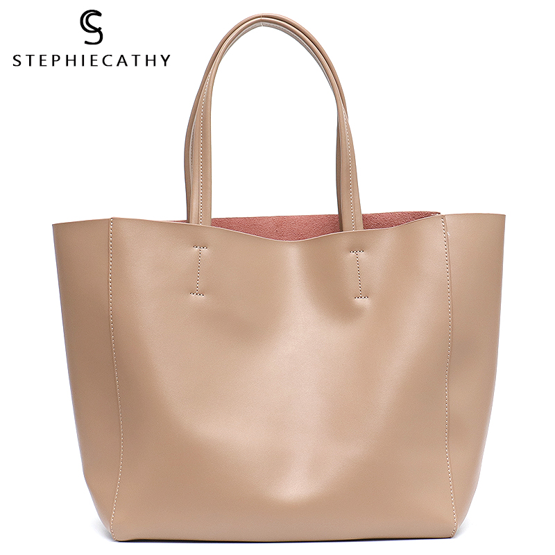 SC Luxury Brand Cow Leather Tote Bags Designer Cowhide Handbags Women Shoulder Bags Fashion Female Large Capacity Liner Bag