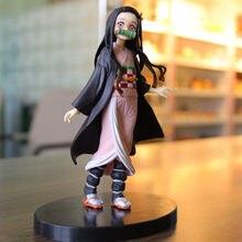 Iblis avcısı PVC aksiyon figürleri Tanjirou Nezuko Anime Kimetsu hiçbir Yaiba heykelcik Model oyuncaklar