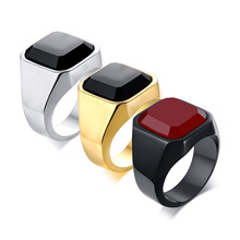 New Black Store Rings Accessories Top Grade Stainless Steel Jewel 3 Color Ring Male Fashion Jewelry Birthday Party Gifts Men