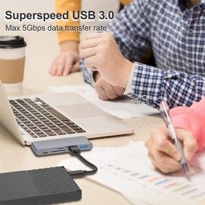 Image 4 - 유형 C to HDMI USB 허브 4K USB C Dock USB C 허브 USB C PD 100W TF SD USB 3.0 for iPad Pro 2020 xiaomi huawei PC Macbook Pro Air