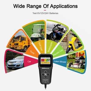 Image 3 - BM520 Truck Battery Analyzer 6V 12V 24V Reversible Access Clips 2000 CCA BCI EN Car Motorcycle Voltage Check Charging Test Tool
