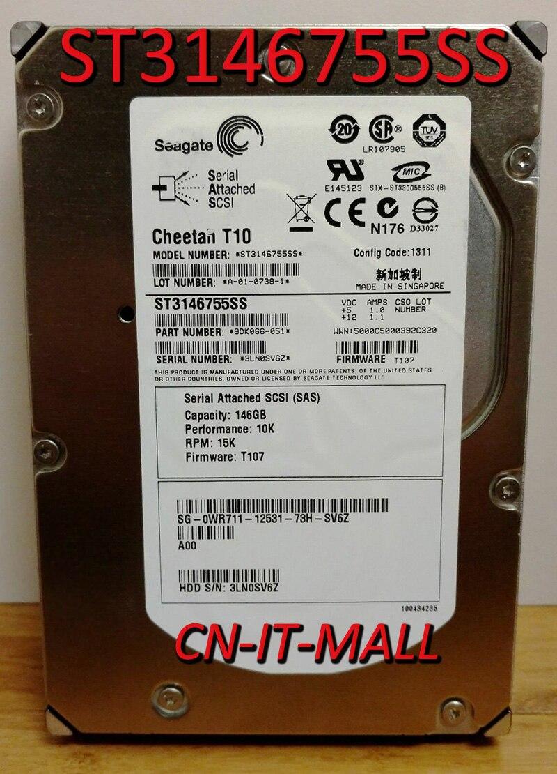 Жесткий диск Seagate Cheetah T10 ST3146755SS, 146 Гб, 15000 об/мин, 16 Мб кэш, SAS 3 ГБ/сек., 3,5 дюйма, внутренний жесткий диск Enterprise