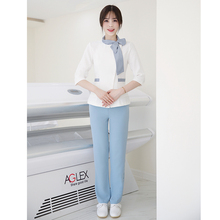 Cosmetologist work clothes spring and summer new temperament SPA health club set
