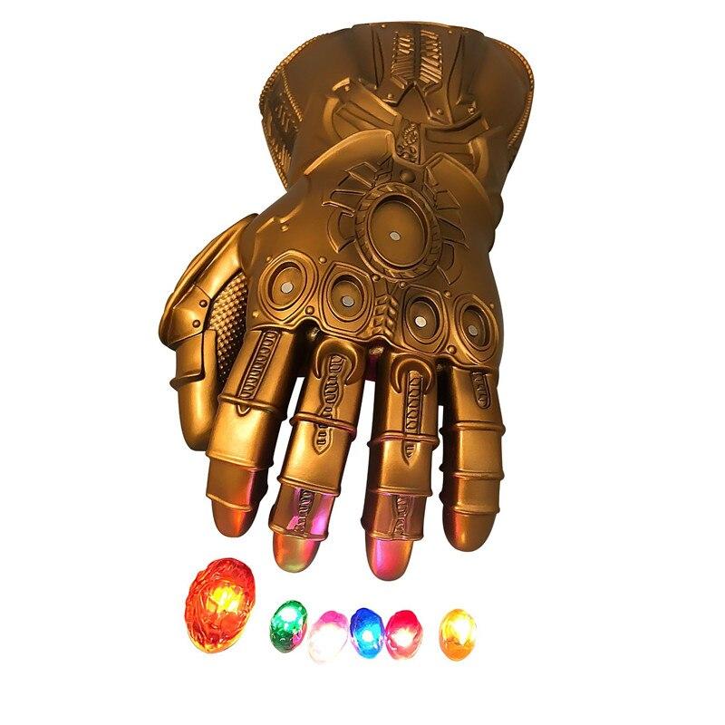 Nouveau Iron Man Avengers Marvel super-héros Endgame infini gantelet Cosplay gants Avengers Thanos pierre gemme Mobile LED gant jouet