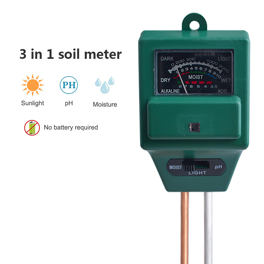 3 in 1 Soil Tester Moisture Meter, Light and PH Acidity Tester for Plant Care, Soil Hygrometer Water Monitor Indoor & Outdoor|PH Meters| - AliExpress