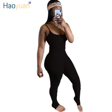 HAOYUAN Sexy Rompers Womens Jumpsuit Summer Clothes One Piece Club Outfits Ruche