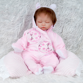 Girl Reborn Bebes Doll Baby Dolls Soft Silicone Boneca Reborn Brinquedos Bonecas Children Kid Gifts Toys Bed Time Plamate npk 22 close eyes reborn baby doll model silicone touch real soft realistic girl boneca reborn dolls for toddler sleeping toys