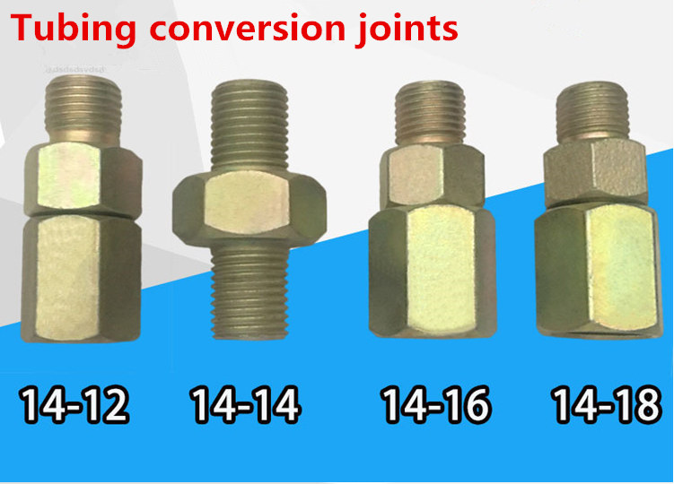 Free Shipping!Tubing Conversion Joints, High-pressure Tubing Conversion Interface, Test-tubing Adapter, M14 To M12,M14,M16,M18
