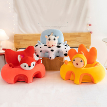 Baby Sofa Bracket Seat Cover Cartoon Style Plush Baby Learning Seat Sofa Cover Learning Seat Changing Cover No Cotton Filling