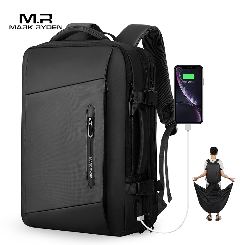 Laptop Backpack Mochila Raincoat Male Bag Mark Ryden Anti-Thief Travel Usb-Recharging title=