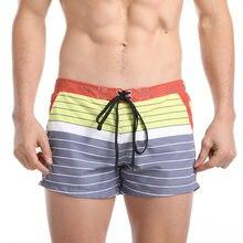 Мужские Короткие Мини-шорты для плавания, плавки для мужчин, купальный костюм AQUX, сексуальный купальный костюм в полоску, пляжный купальный ...
