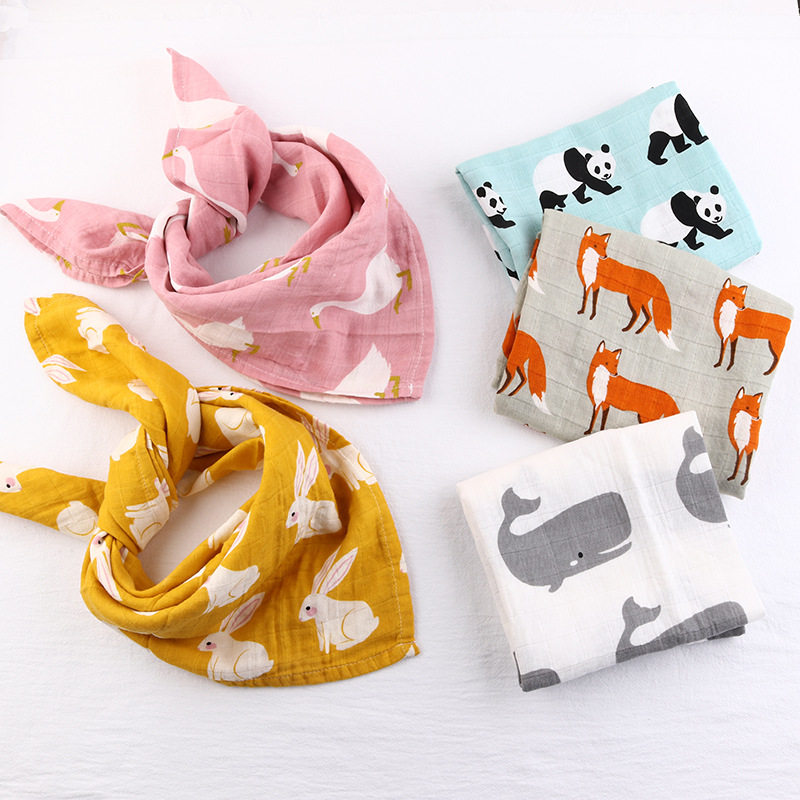 Cotton Baby Blankets Newborn Soft Organic Cotton Baby Boy Blanket Muslin Swaddle Wrap Feeding Burp Cloth Towel Scarf Baby Stuff