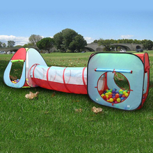 Kids Playhouse 3-in-1 Play Tent Crawl Tunnel for Beach| Backyard| Camping| Home| Garden| Park| Parties| Day Care