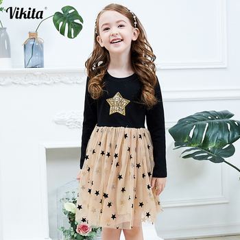Kids Autumn Winter Dresses for Girls Star Sequins Princess Dress Girls Long Sleeve Party Vestidos Baby Girl Children Clothing high quality dresses and coat winter autumn baby wear clothes girls clothing long sleeve warm children dress child clothing