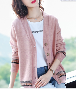 Spring Knitted Cardigan Womens 2020 New Western Style and Autumn Outerwear Sweater