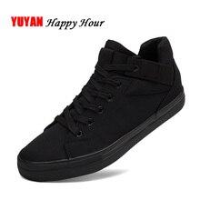 Zapatillas de deporte de lona para hombre, zapatos casuales transpirables a la moda, clásicos, color blanco y negro, KA241