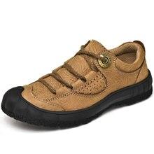Туфли мужские из натуральной кожи повседневная Уличная обувь