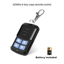 KEBDIU 433Mhz Remote control Duplicator Copy Remote Control fixed code For Universal Garage Door Gate Key Fob command garage
