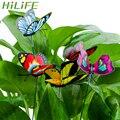 HILIFE Mit Pile Garten Liefert Outdoor Decor Bunte Schmetterling Stakes 5 Pcs/Bündel Schmetterling Blumentöpfe Dekoration-in Dekorative Einsätze & Windspinner aus Heim und Garten bei