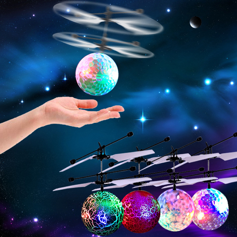 RC Helicopter Flying Ball Toys Mini Drone Helicoptero Hand Induction Helicopter Aircraft Quadcopter Dron Remote Control Kids Toy