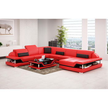 Living Room Sofa storage corner real genuine leather sofas salon couch puff asiento muebles de sala canape U shape sofa cama