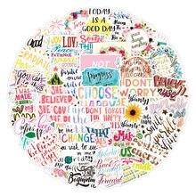 10/30/50 pçs frases motivacionais adesivo inspirador vida citações diy papelaria portátil sala de estudo scrapbooking graffiti decalques