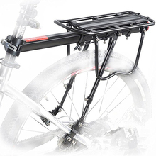 Portabicicletas de aleación de aluminio de 50KG, portaequipajes trasero para bicicletas MTB, estante trasero para bicicletas de ciclismo