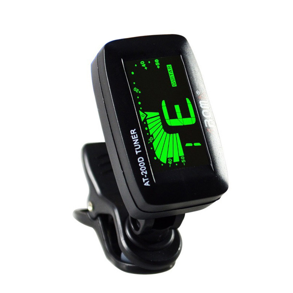 Universal Clip On Guitar Tuner With Digital Chromatic LCD For Electric Acoustic Guitar Bass Ukulele Violin Banjo Portable Tuner
