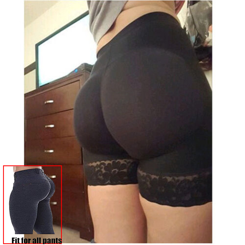 Women Seamless Lace Padded Panties Body Shaper Hip Up Panty Underwear Buttock False Ass Butt Lifter Hip Sexy Push Up Intimates E