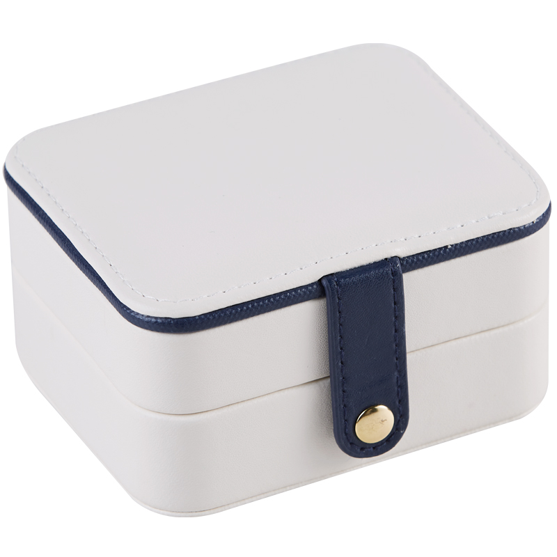 Multiple Storey Mini Jewelry Box PU Magnetic Buck Travel Earrings Necklace Ring Storage Case Jewelry Casket