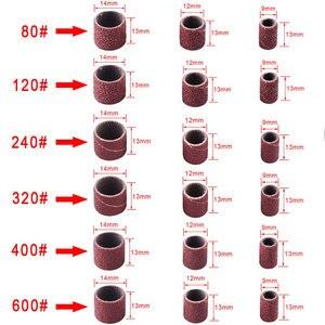 Image 5 - Bande de ponçage Abrasive pour Dremel, outil rotatif, accessoires pour travaux de meulage des ongles, mandrin, tambour de ponçage