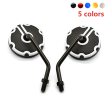Quality Motorcycle Side Rearview Mirrors 10mm Round Universal For Honda XR 230 250 400 125 CRM250R CRF250L CRF250M CRF1000L