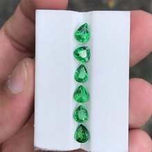 1PCS Stone of Life 3A Colombia Emerald Corundum Spinel Various Shapes Mosaic Jewelry Diy Green Gem AAA 5 7MM Stone of Jewelri