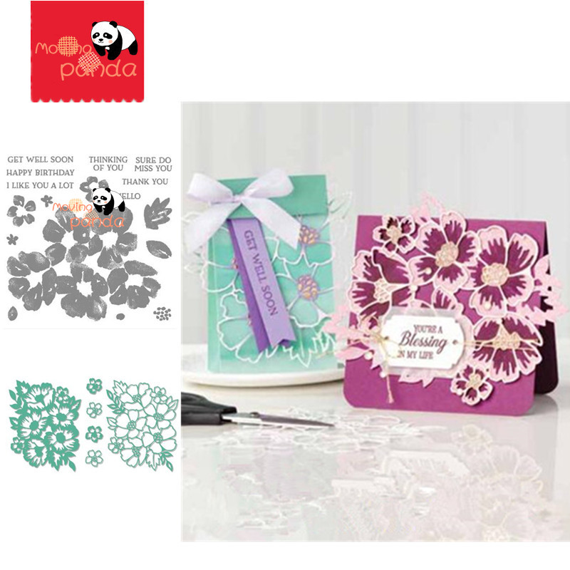 MP122 LAYERED BLOSSOMS Metal Cutting Dies And Stamps For Scrapbooking Stencils DIY Paper Album Cards Decoration Embossing