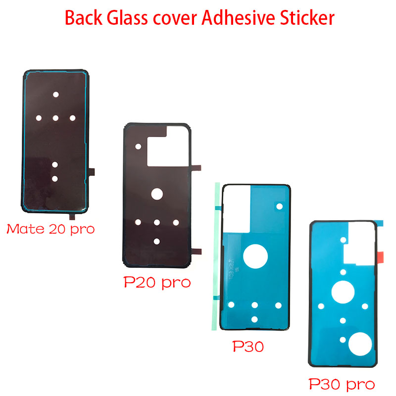 2Pcs/Lot, New For Huawei P20 Mate 20 Pro P30 Pro Back Battery Cover Door Sticker Adhesive Glue Tape