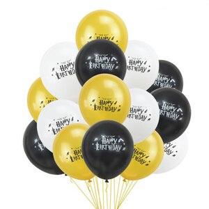 Image 4 - 漫画の誕生日バナーハッピーバースデーラテックス風船ケーキトッパーの誕生日パーティーの装飾ホオジロ子供好意