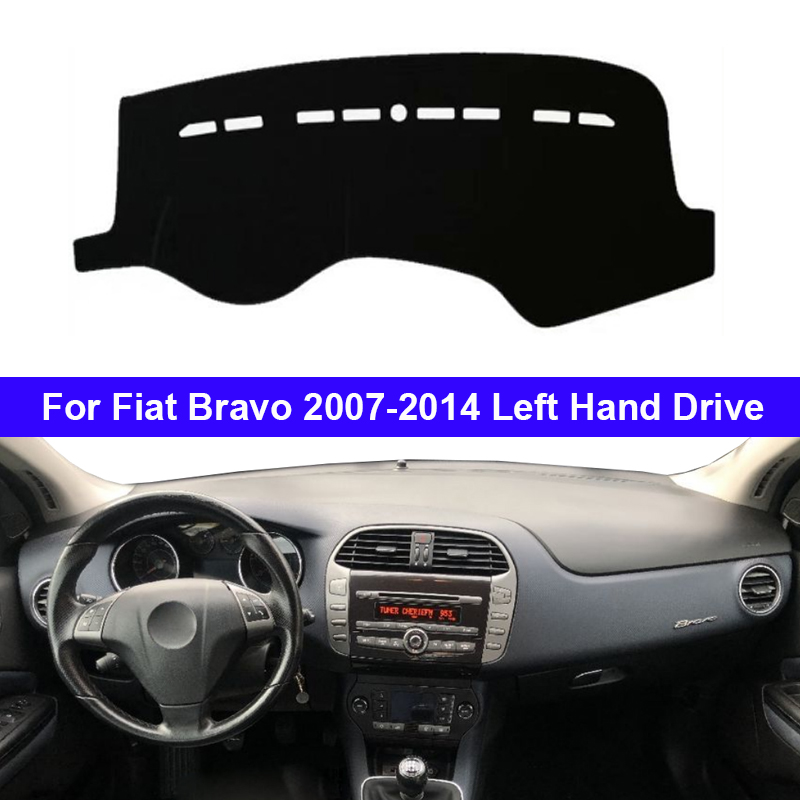 Car Auto Dashboard Cover Cape For Fiat Bravo 2007 2008 2009 2010 2011 2012 2013 2014 LHD Dashmat Pad Dashboard Carpet Dash Mat